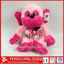 Mono rosado precioso de encargo con la felpa de la felpa juguete de encargo del felpa de la felpa