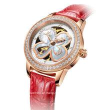 Automatic Diamond Four Leaf Clover Ladies Montre bracelet
