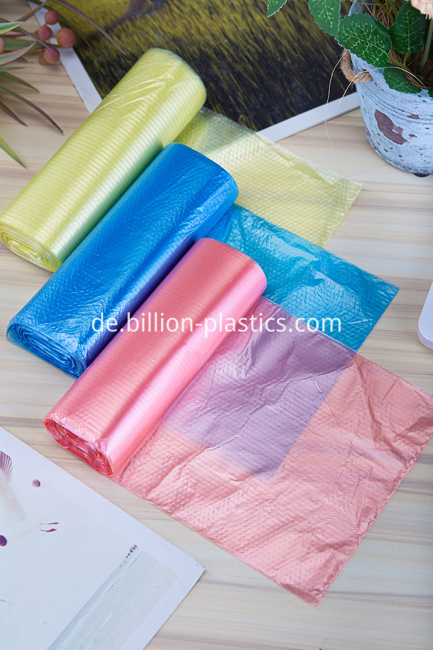 PE plastic rubbish bag