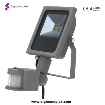 Dünnes PFEILER LED Flut-Sensor-Licht, LED-Flut-Licht-Scheinwerfer 10W mit PIR mit Ce RoHS