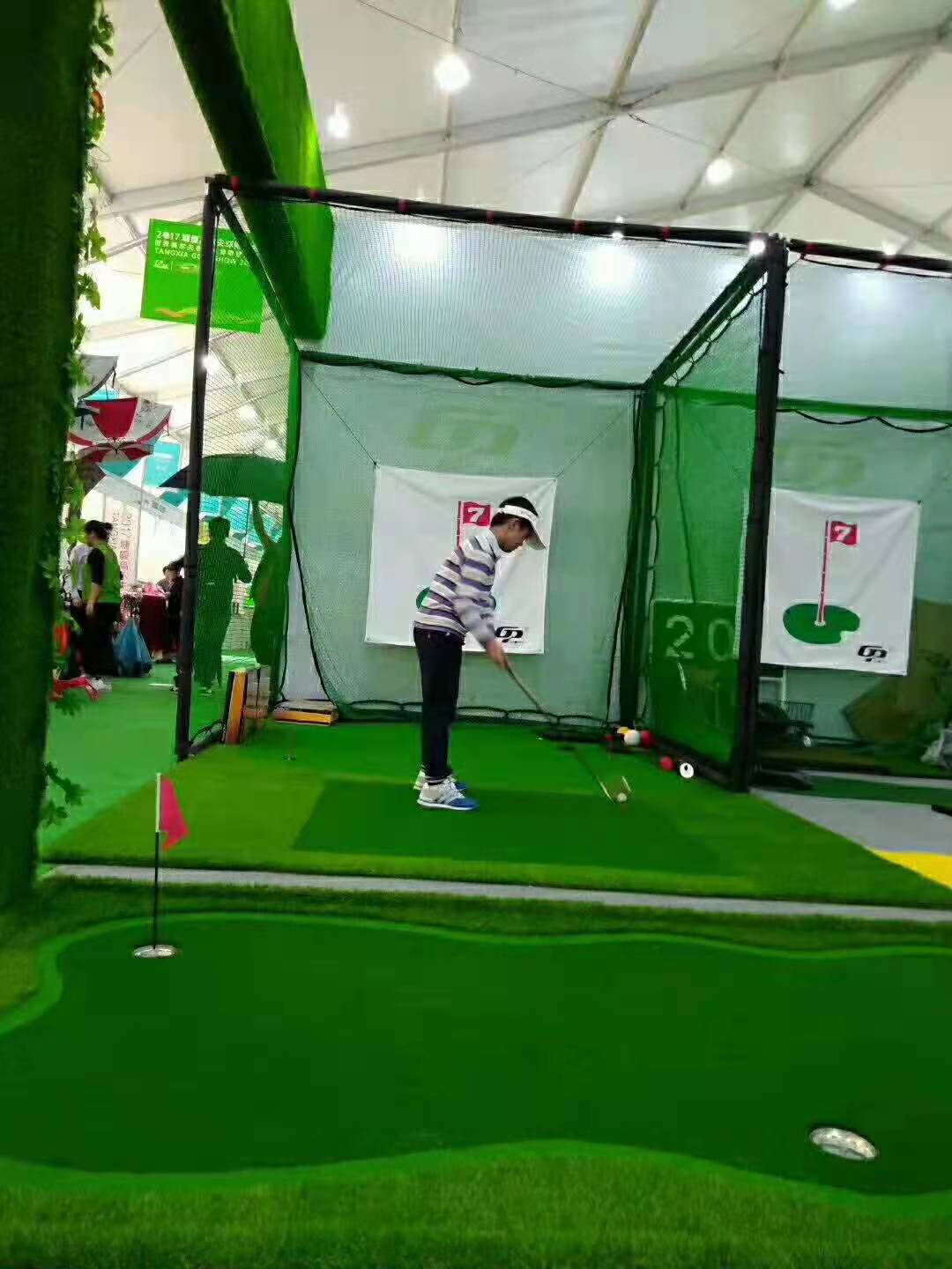 golf putting green and swing cage 3M