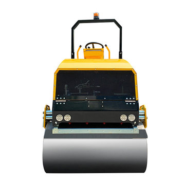3 Ton full hydraulic double drum tandem ride on vibratory road roller compactor