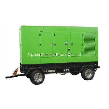 12.5kVA ao gerador diesel silencioso montado reboque de 625kVA