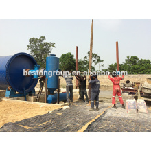 30KW / H ahorra energía planta de aceite de pirólisis de caucho con CE