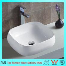 Bathroom Top Mounted Single Faucet Hole Ceramic Thin Edge Basin