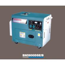 Générateur diesel silencieux refroidi à l'air (BN5800DSE / B)