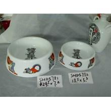 Керамические собаки миски (CY-P5781)