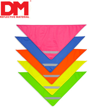 Hot Sale High Quality Reflective kids Soft polyester Child Triangular Scarf
