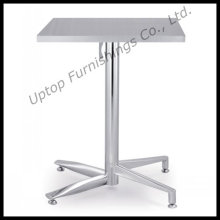 Outdoor Folding Square Stainless Steel Bistro Table (SP- MT020)