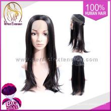 With Bang Bob Style Peruvian Straight Remi Virgin Human Hair Kosher Wig