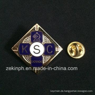 Qualitäts-Gold überzogenes weiches Cloisonne-Abzeichen