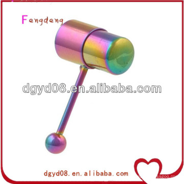 Joyería vibrante del cuerpo del anillo de la lengüeta del arco iris del acero inoxidable
