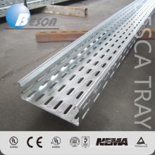 Bandeja de cabo perfurada flexível de aço galvanizada do mergulho quente