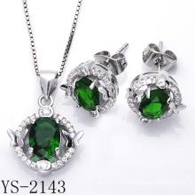 Moda micro pavimentar joyas de plata esterlina CZ 925 conjunto (ys-2143)
