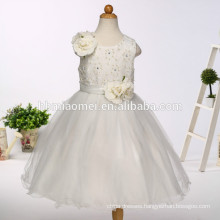 2017 new arrival baby girl wedding dress with flower korea style floral children frocks designs for western party wear