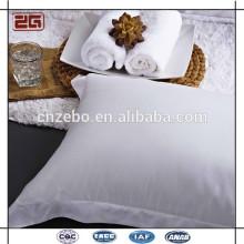 100% coton Sateen Fabric 5cm Style de chevauchement Hot Selling White Pillow Case