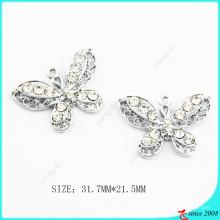 Cristaux clairs Metal Butterfly Charm fabrication de bijoux (MPE)