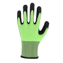 Glass Processing Good Grip HPPE Foam Nitrile Coated Cut Resistant  Level 5 Work Glove