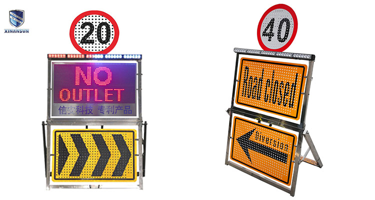 Double side reflective warning board