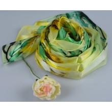 100%Silk Stripe Scarf Fashion Silk Square Scarf 150060100802-3