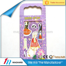 wholesale magnetic Changing clothes Paper Doll, magnetic dress-up playset