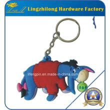 Llavero del animal del diseño del burro del PVC