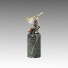 Animal Bird Statue Birdle Happy Bronze Sculpture Tpal-306