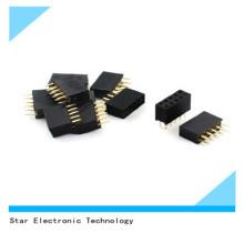 China Fábrica de 2 Pin 3.5mm Duplo Fileiras 10pin Feminino DIP Em Linha Reta Pin Header Soquete