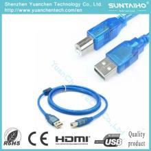 USB 2.0 macho para fêmea cabo de impressora USB