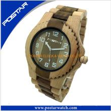 2016 neueste Design Mode Holz Uhr Benutzerdefinierte Logo Armbanduhr