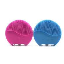 Hot sale beauty machine waterproof portable silicone electric face cleaner facial cleansing brush