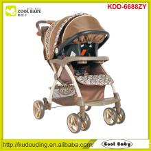 Fabricante carrinho de criança de bebê moderno novo 2 a 1 carrinho de bebê ajustável da altura da alça com carseat