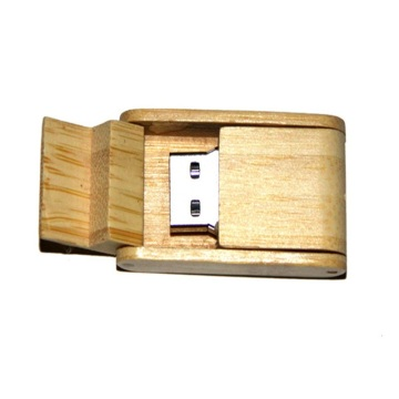 Logotipo Custom Swivel Wood Memory Stick USB