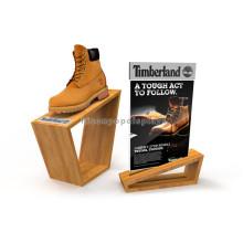 Counter Top Madera Contrachapada Zapatillas Rack Calzado Tienda al por menor Custom Acrylic Shoe Display Stand
