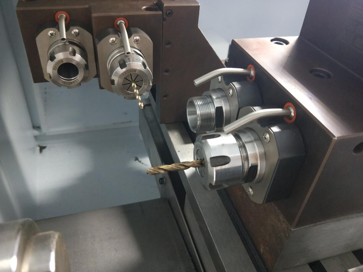 lathe machine for metal drilling