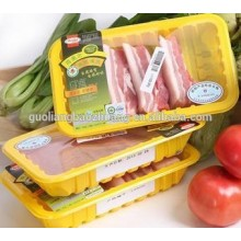 Clear Black Blue Green Colors Customized Meat Packaging Sealable Plastic Tray with Lid