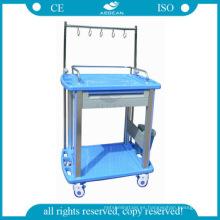 AG-IT002A3 aprobado carros de lavandería de hospital ABS inyección médica