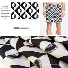 Resumen de pantalones cortos de playa impresa Digital / Casual ropa tela
