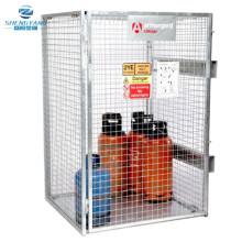 tuffcage pliable galvanisé bouteille de gaz cylindre sécurisé cage de stockage de marchandises