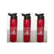 600ml Red Custom BPA Free Aluminum Bottle With Smart Handle, Promotional Sports Drinking Bottle