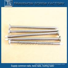 Pregos comuns de aço liso da haste galvanizada