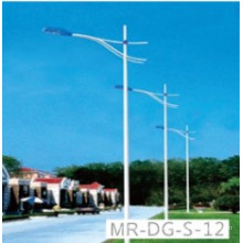 Street Light Post with Single Arm 12m Height 4mm Thickness