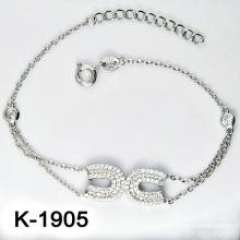 El micr3ofono de plata de la manera pavimenta la joyería del ajuste de la CZ (K-1905. JPG7)