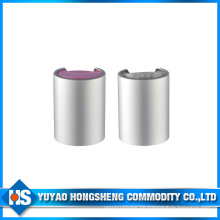 Sliver Aluminium Kosmetik Disc Top Cap