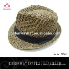 Дешевые мужские бумажные соломенные шляпы Fedora