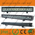 2016! ! Barra de luz LED para coche de 20 pulgadas 60W / luz de conducción LED, barra de luz LED de 12V 24V