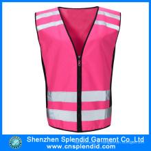 Vestuário Reflectivo Atacado Segurança Pink Trabalho Vest Multi Pocket