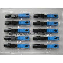 Connecteur rapide intégré optique de fibre de FTTH Sc Upc / connecteur rapide
