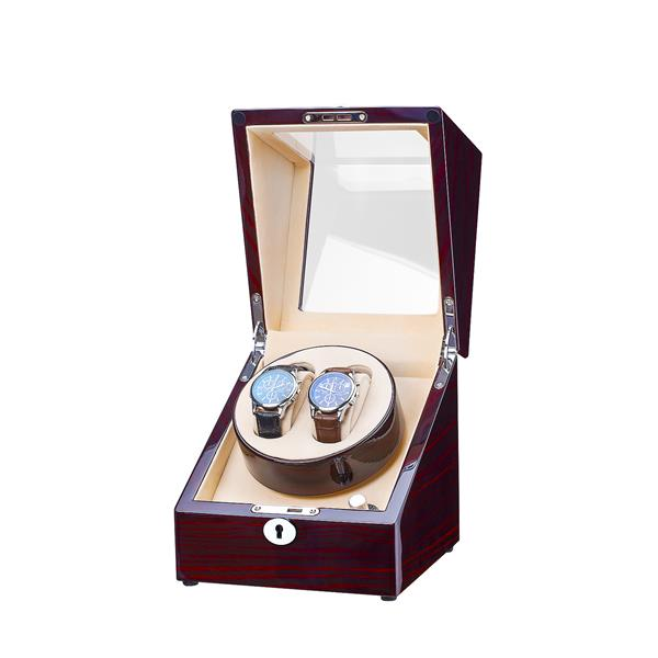 One Rotor Watch Winder For 2 Watches The classic watch winder does a Japanese motor which guarantees optimal winding and a high reliability. The adjustable rotation direction, you can control the TPD by switching buttom. The watch winder is suitable to be placed in your living room or office. Your watches will be wound up nicely by this Compact series. The level of energy is preserved and you can wear your watch any moment you wish without winding it up or change the indication of time. The watch winder can be connected with the adapter. In short, our watch winders are a first class accessory for an automatic watch. Feature Description: 1. Super silent Japanese motors: Super quiet winding operation without running noise. Easy repair style for the motor when it run out of life. 2. Smart Auto daily repeat working,resting and sleeping setting PCBs. 3. Power supply: Available adapters and batteries (three kinds of batteries for choose) 4. The rotor is operated by easy-to-use switch.there are total 4 programs available 8-10 turns per minute. Smart setting for all kind of watches. 5. Direction of rotation selectable: Clockwise,Counterclockwise or Alternating. One Rotor Watch Winder For 2 Watches product detail production process: production process product packaging: adapter packing way