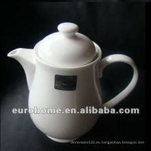 White Porcelain Coffee / Tea Pot para hoteles y restaurantes